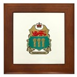 Saskatchewan Shield Framed Tile