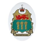 Saskatchewan Shield Oval Ornament