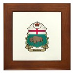 Manitoba Shield Framed Tile