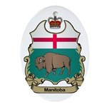 Manitoba Shield Oval Ornament