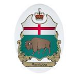 Manitoba Shield Oval Ornament