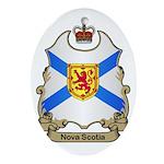 Nova Scotia Shield Oval Ornament