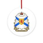 Nova Scotia Shield Ornament (Round)