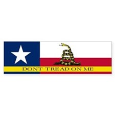 Dont Tread on Me Texas Flag Bumper Sticker