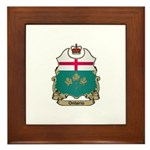 Ontario Shield Framed Tile