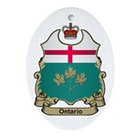 Ontario Shield Oval Ornament