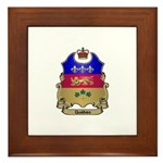 Quebec Shield Framed Tile