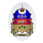 Quebec Shield Oval Ornament