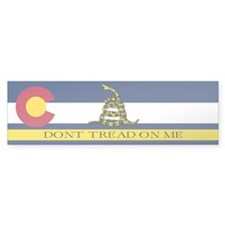 Dont Tread on Me Colorado Bumper Sticker
