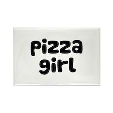 Pizza Girl Rectangle Magnet
