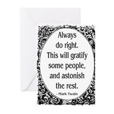 Cute Mark twain Greeting Cards (Pk of 10)
