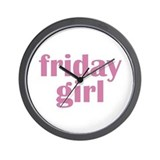 friday girl Wall Clock