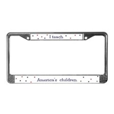 """America's Children"" License Plate Frame"