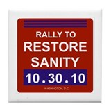 Unique Rally to restore sanity Tile Coaster