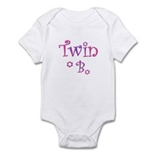 Twin B purple and pink Infant Bodysuit