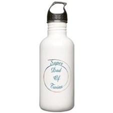 Super Dad of twins mulitcolor Sports Water Bottle