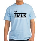 """EMUS"" T-Shirt (blue/grey/beige)"