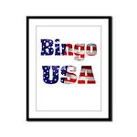 Bingo USA Framed Panel Print