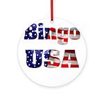 Bingo USA Ornament (Round)