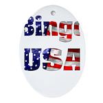 Bingo USA Ornament (Oval)