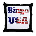 Bingo USA Throw Pillow