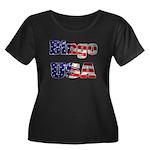 Bingo USA Women's Plus Size Scoop Neck Dark T-Shir