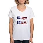 Bingo USA Women's V-Neck T-Shirt