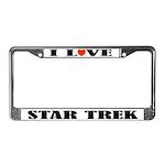 I Love Star Trek License Plate Frame