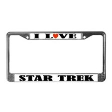 I Love Star Trek License Plate Frame