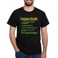 Spock Costume Dark T-Shirt