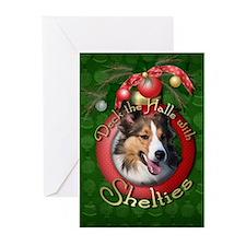 Christmas - Deck the Halls - Shelties Greeting Car
