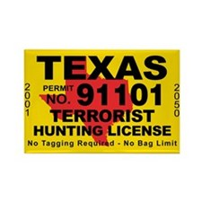 Texas Rectangle Magnet (100 pack)