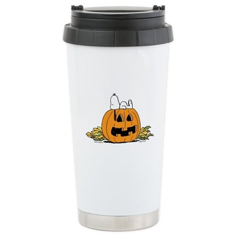 Pumpkin Patch Lounger Ceramic Travel Mug