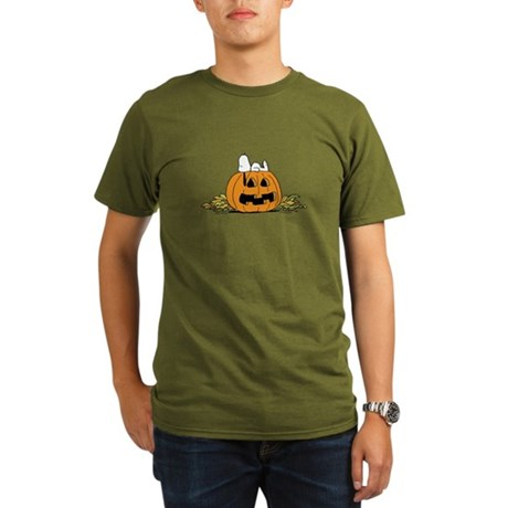 Pumpkin Patch Lounger Organic Men's T-Shirt (dark)