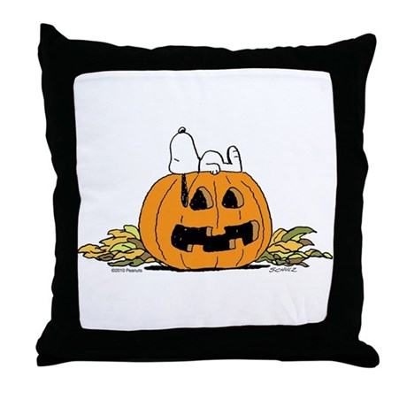 Pumpkin Patch Lounger Throw Pillow