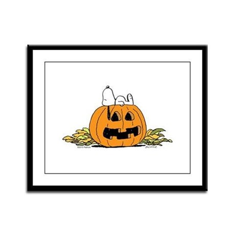 Pumpkin Patch Lounger Framed Panel Print