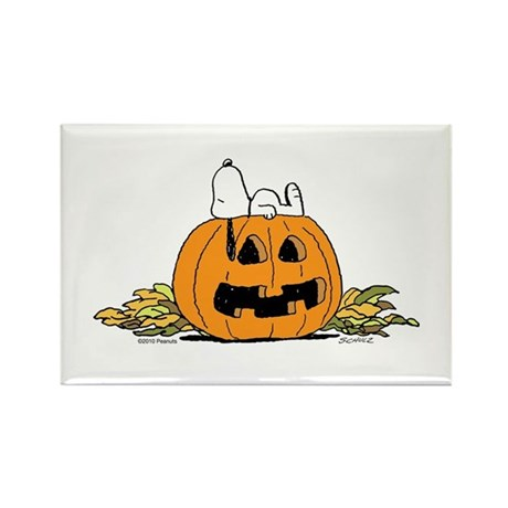 Pumpkin Patch Lounger Rectangle Magnet