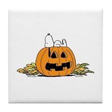 Pumpkin Patch Lounger Tile Coaster
