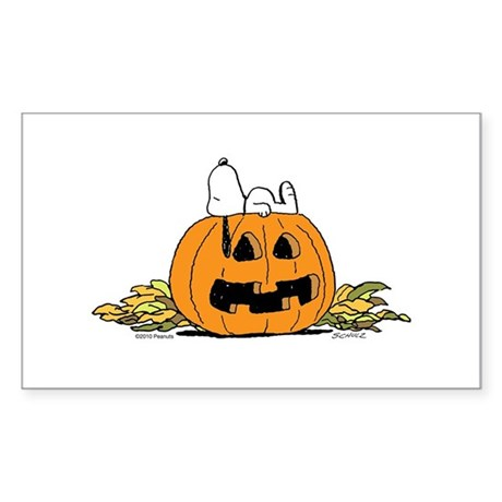 Pumpkin Patch Lounger Sticker (Rectangle)