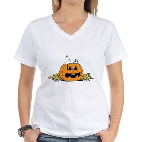Pumpkin Patch Lounger Women's V-Neck T-Shirt