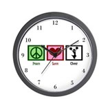 Peace Love Cheer Wall Clock