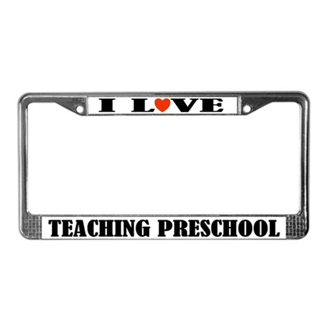 I Love Teaching License Plate Frame