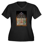 East Stained Glass Window Chr Women's Plus Size V-