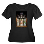 East Stained Glass Window Chr Women's Plus Size Sc