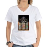 East Stained Glass Window Chr Women's V-Neck T-Shi