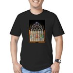 East Stained Glass Window Chr Men's Fitted T-Shirt