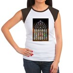 East Stained Glass Window Chr Women's Cap Sleeve T