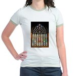 East Stained Glass Window Chr Jr. Ringer T-Shirt