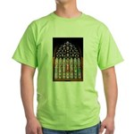 East Stained Glass Window Chr Green T-Shirt