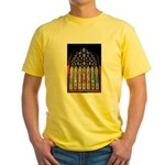East Stained Glass Window Chr Yellow T-Shirt